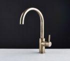 Faucet Pegasi M Sink Mix Curve 220 Ant Brass Light