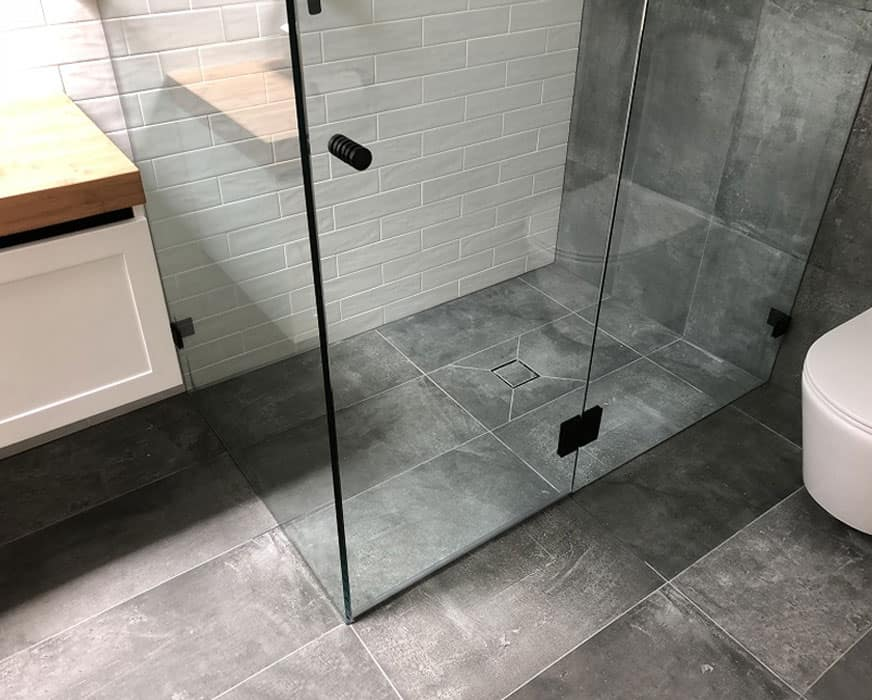 Dropdown Shower Screen