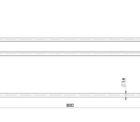 111 8130 Vivid Slimline Double Towel Rail 800mm Line Drawing 1