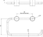 111 8200 Vivid Slimline Toilet Roll Holder Line Drawing