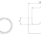 111 8400 Vivid Slimline Robe Hook Line Drawing