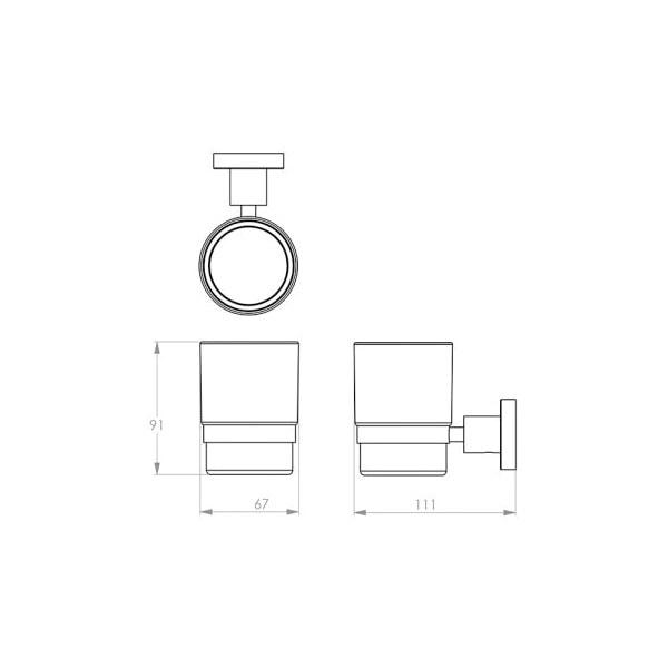 4600 Series Glass Tumbler + Holder 02