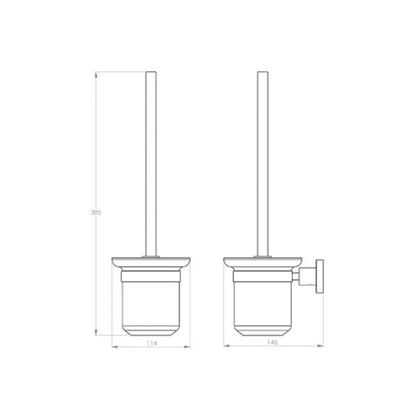 4600 Series Toilet Brush + Holder 02