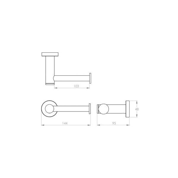4600 Series Toilet Roll Holder Type 02