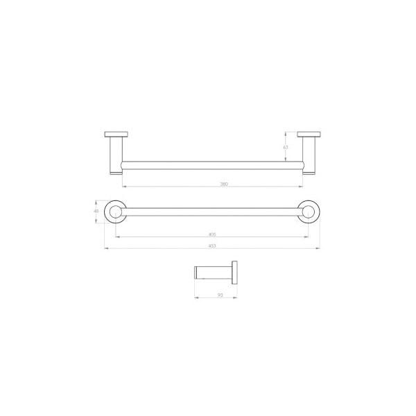 4600 Series Towel Rail Single 02