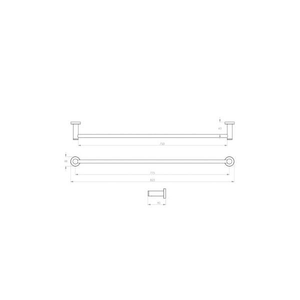 4600 Series Towel Rail Single 03