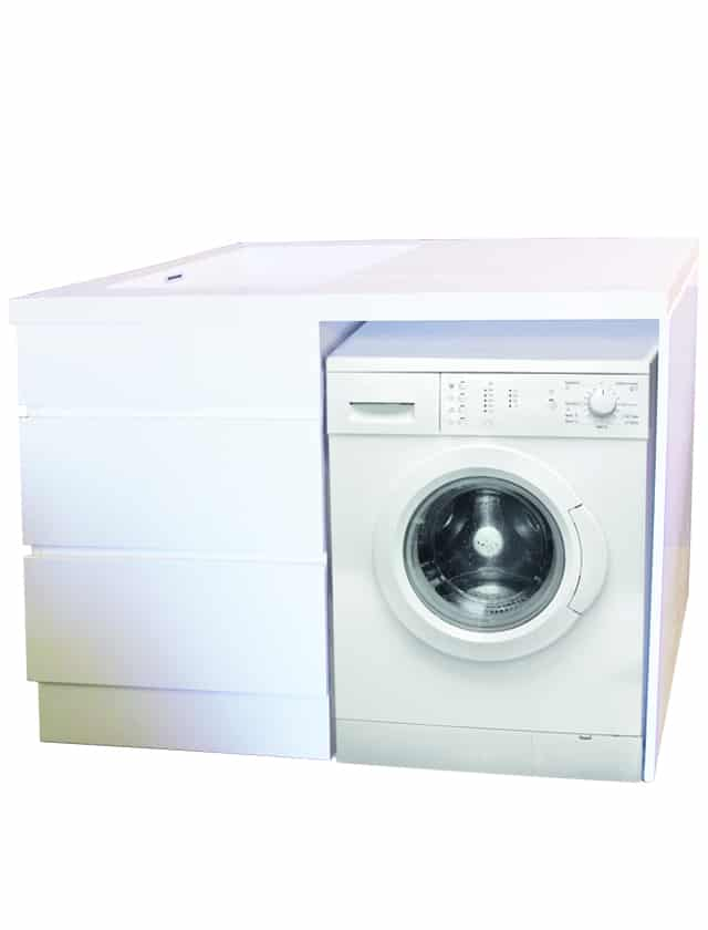 77060 White Bloom Laundry Cabinet