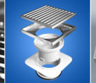 80mm Square On Square Floor Grate Main Top