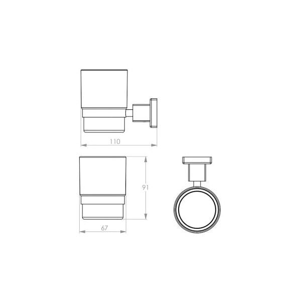 8500 Series Glass Tumbler + Holder 02