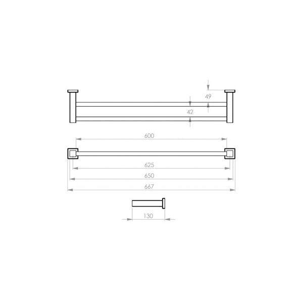 8500 Series Towel Rail Double 02