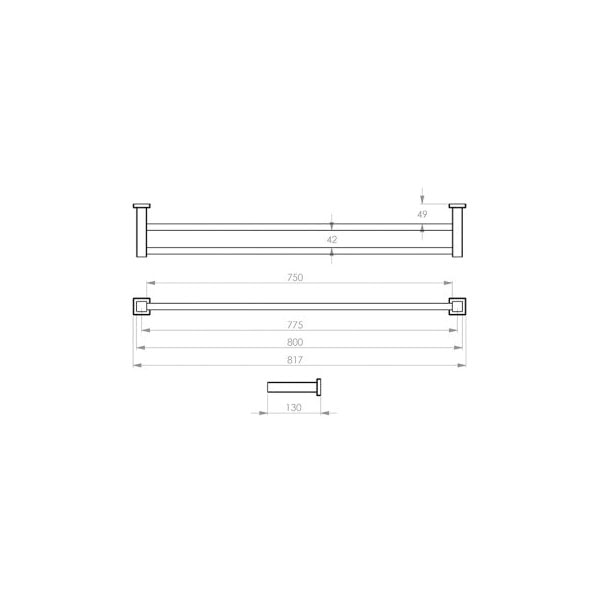 8500 Series Towel Rail Double 03