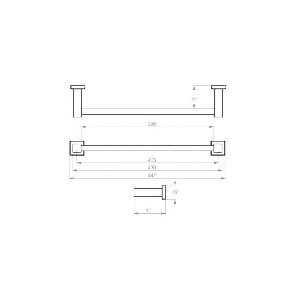 8500 Series Towel Rail Single 02