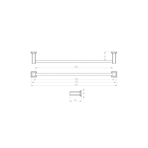 8500 Series Towel Rail Single 03