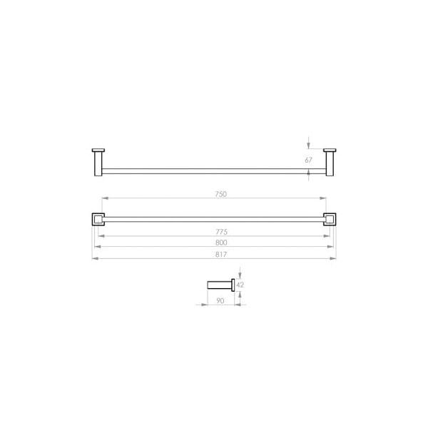 8500 Series Towel Rail Single 04