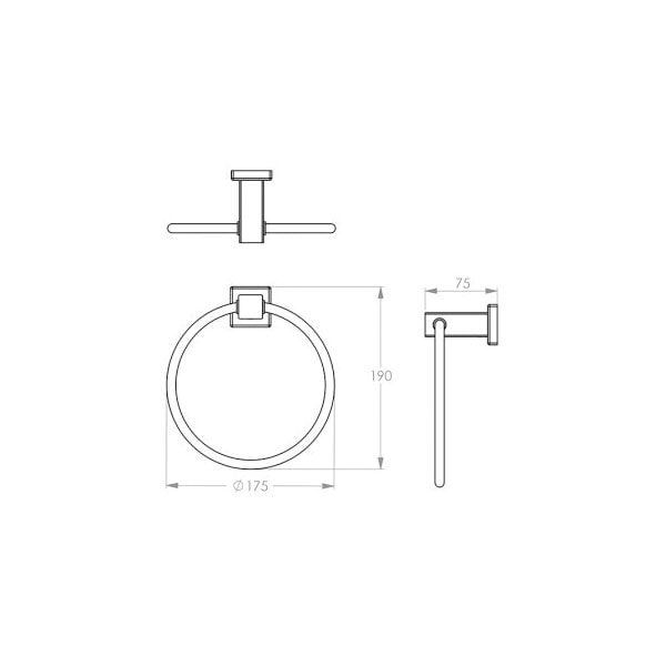 8500 Series Towel Ring 02