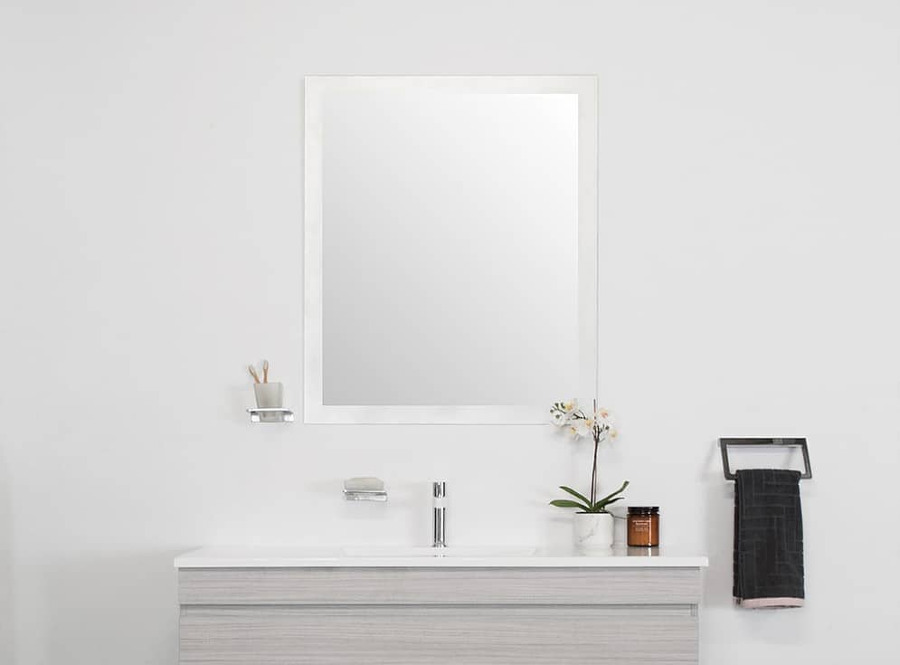 Adp Glass Frame Flush Mirror 2