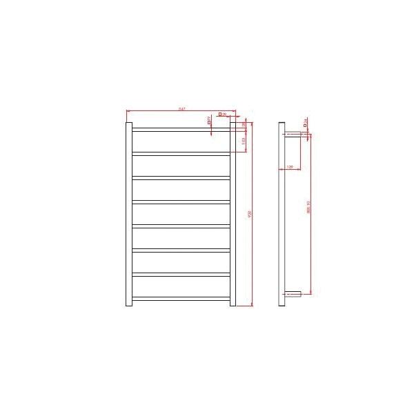 Argo Towel Ladder 920mm 02