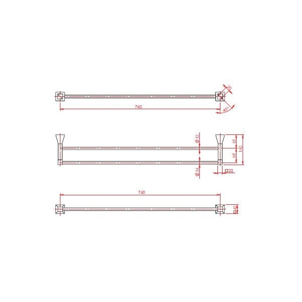 Argo Towel Rail Double 02