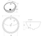 Blue Round Undermount Basin Dwg