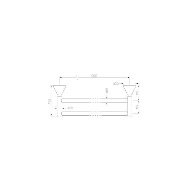 Chisel Towel Rail Double 900mm 02