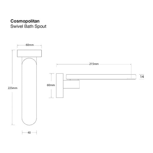Cosmopolitan Bath Spout Swivel 5