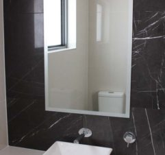 Custom Rect Mirror Frosted Bevel