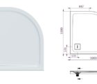 Decina Luna Showerbase Rear Curved 100x100 Specs