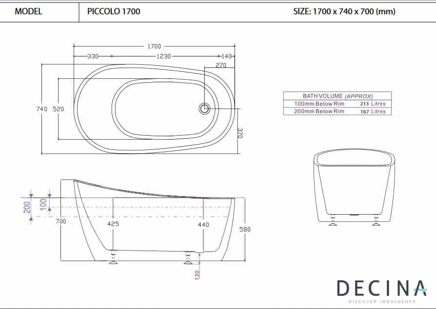 Decina Piccolo 1700 Specs