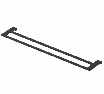 Double Towel Rail Matte Black 0