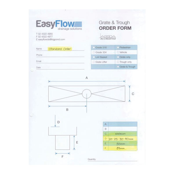 Easyflow 100mm Grate And Trough Custom 03