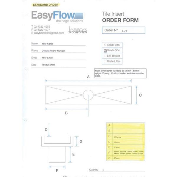 Easyflow 115mm Tile Insert And Trough Custom 04