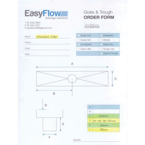 Easyflow 50mm Grate And Trough Custom 03