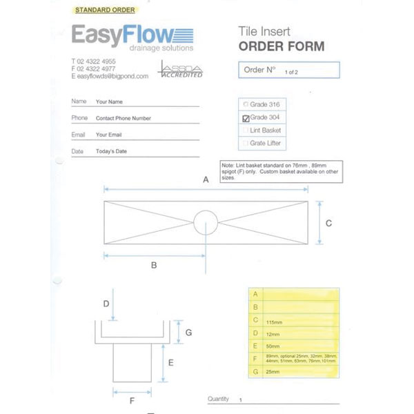 Easyflow 80mm Tile Insert And Trough Custom 04