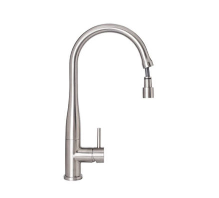 Elle Stainless Steel Pull Out Kitchen Mixer 01
