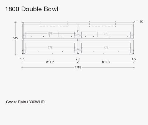 Emporia All Drawer Wallhung 1800d Specs