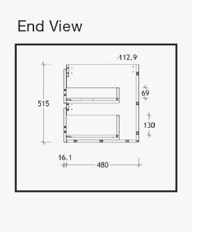 Emporia All Drawer Wallhung Endview Specs