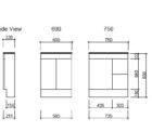 Ensuite Floorstanding Dwg