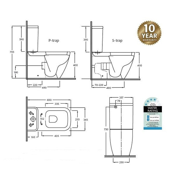 Fienza Rak Caroline Toilet Suite 04