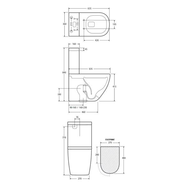 Fienza Empire Toilet Suite 02