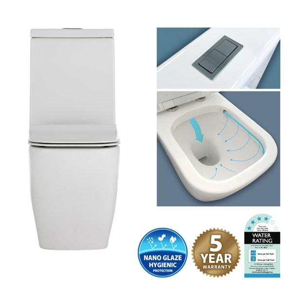 Fienza Lincoln Rimless Toilet Suite 02