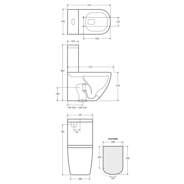 Fienza Lincoln Rimless Toilet Suite 03