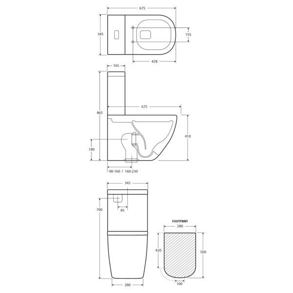Fienza Lincoln Rimless Toilet Suite 03