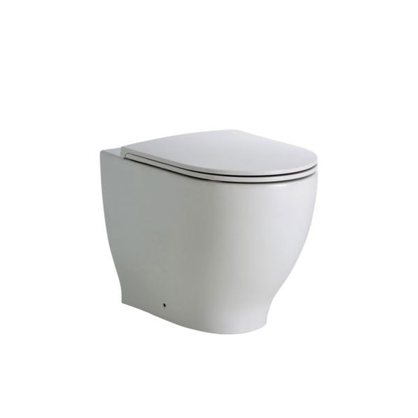 Fienza Moon Wall Faced Pan + R&t Inwall Cistern 08