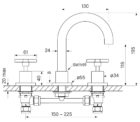 Faucet Chisel D Basin Set Cross Specs