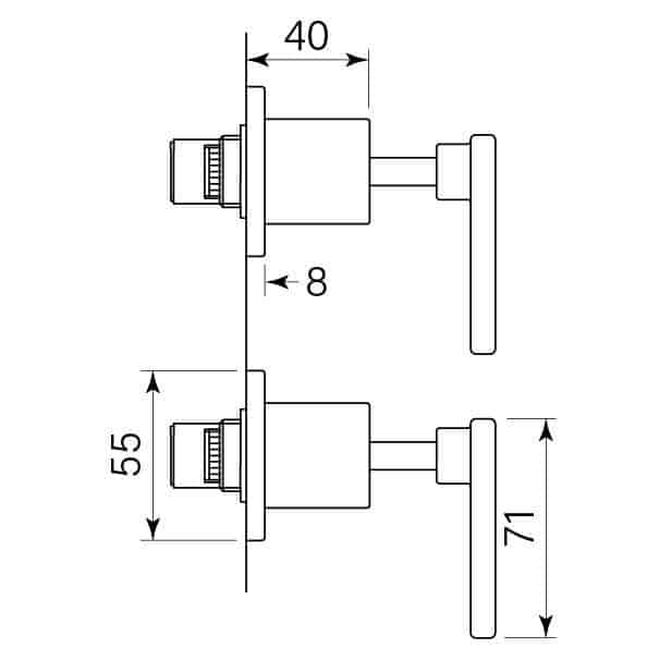 Faucet Chisel D Wall Tap Pr Lever Specs