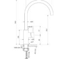 Faucet Pegasi M Sink Mix Curve 220 Ant Brass Med
