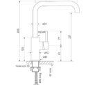 Faucet Pegasi M Sink Mix Sq 160 Specs