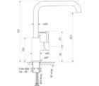 Faucet Pegasi M Sink Mix Sq 220 Specs