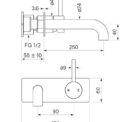 Faucet Pegasi M Wall Basinbp Mix 250 Specs