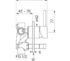 Faucet Pegasi M Wall Mix Div Specs